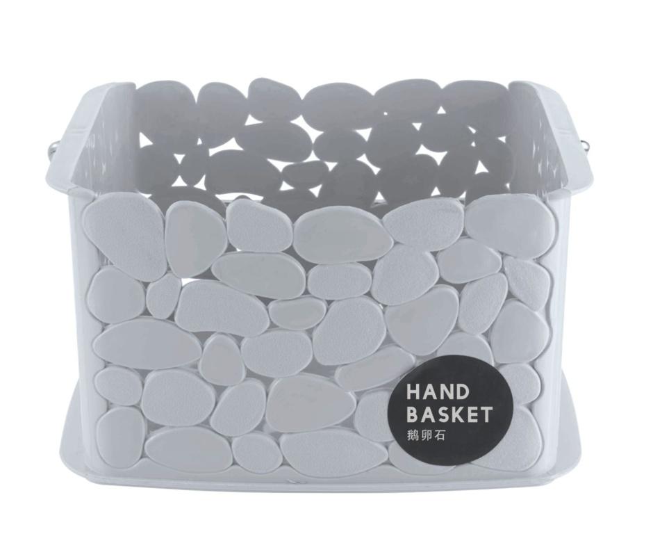 Blue Canyon Pebble Storage Basket With Handles - Black