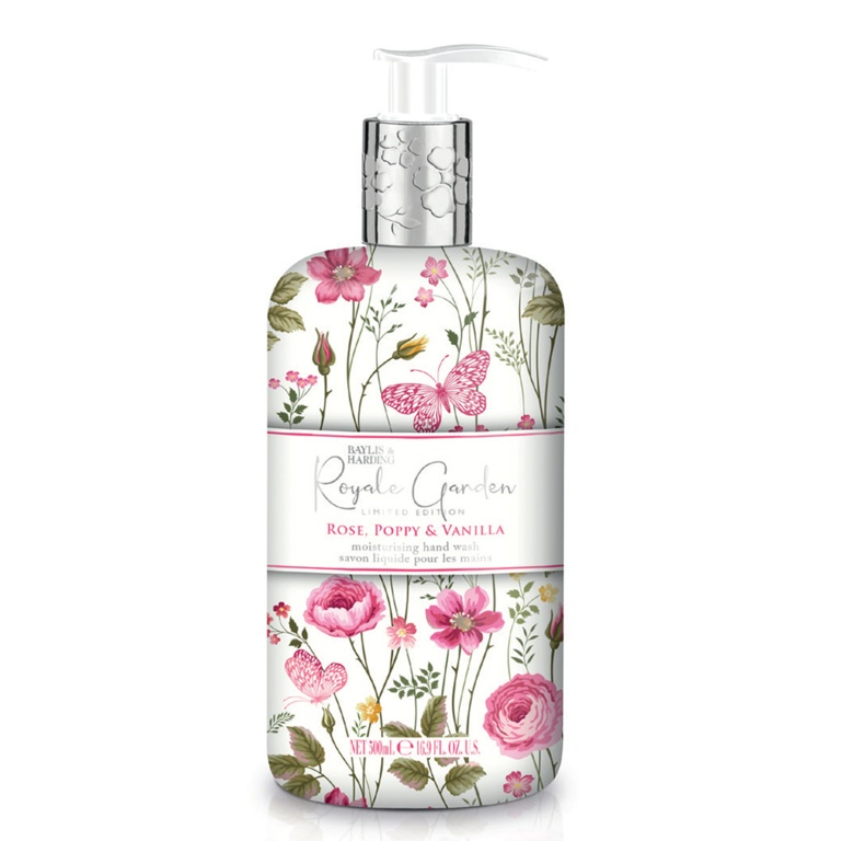 Baylis & Harding Hand Wash 500ml - Rose, Poppy & Vanilla