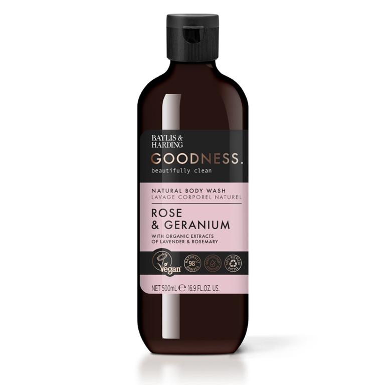 Baylis & Harding Bodywash 500ml - Rose & Geranium