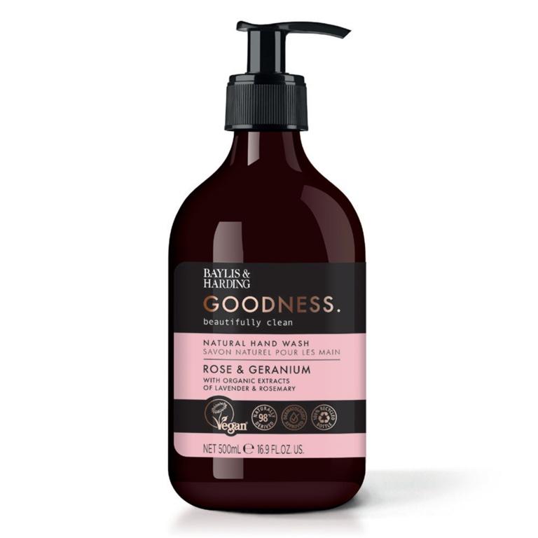 Baylis & Harding Hand Wash 500ml - Rose & Geranium