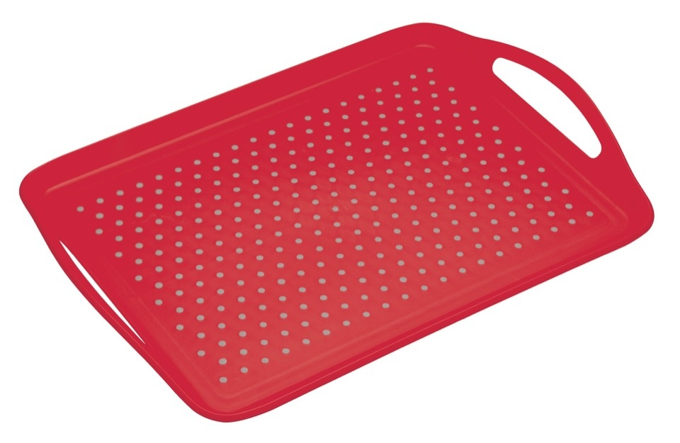 Colourworks Anti Slip Tray - Red