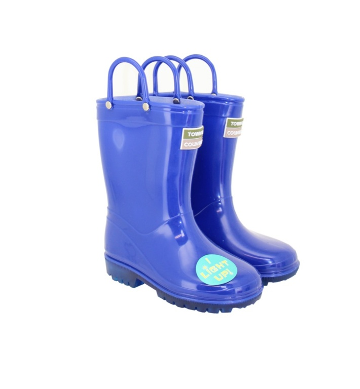 Town & Country Kids Light Up Wellies - Blue Size12