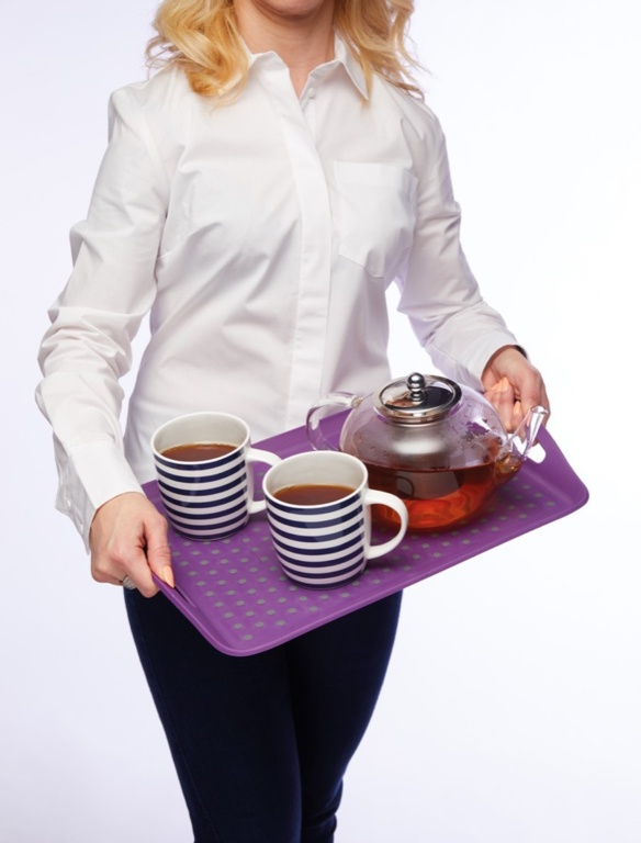 Colourworks Anti Slip Tray - Purple
