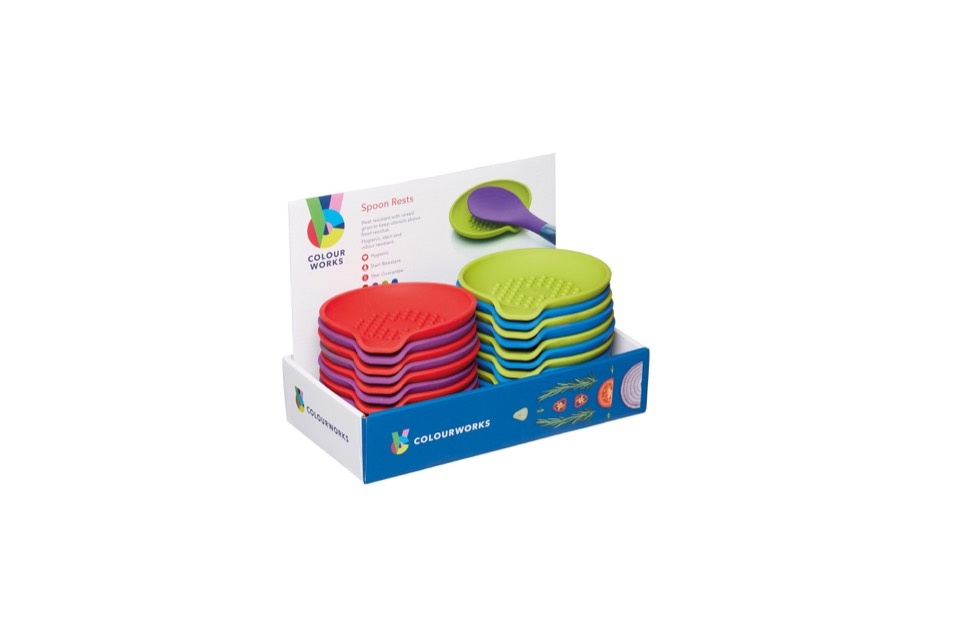 Colourworks Silicone Spoon Rest - Assorted Colours Available