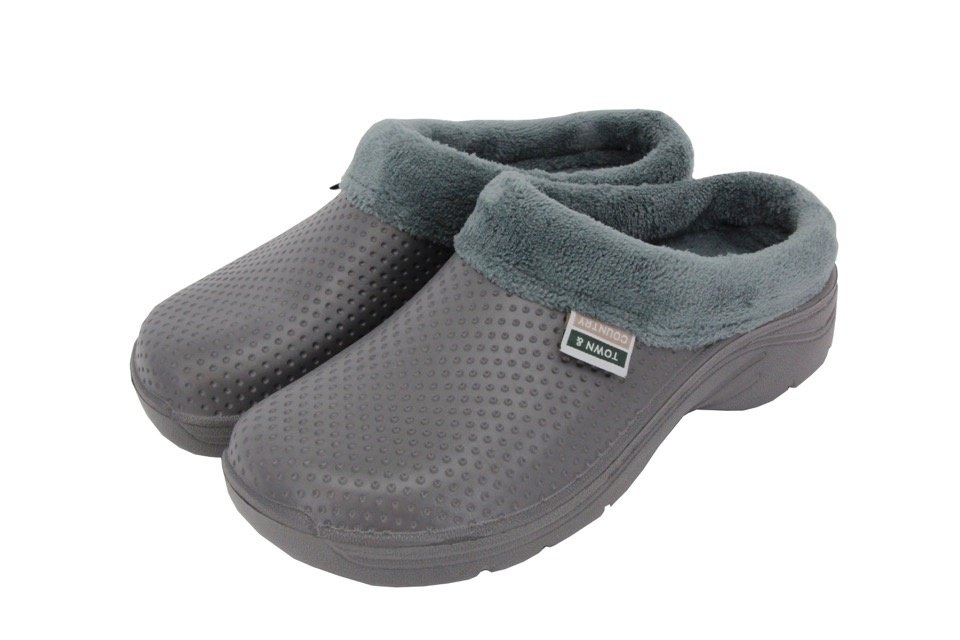 Town & Country Fleecy Cloggies Charcoal - 10