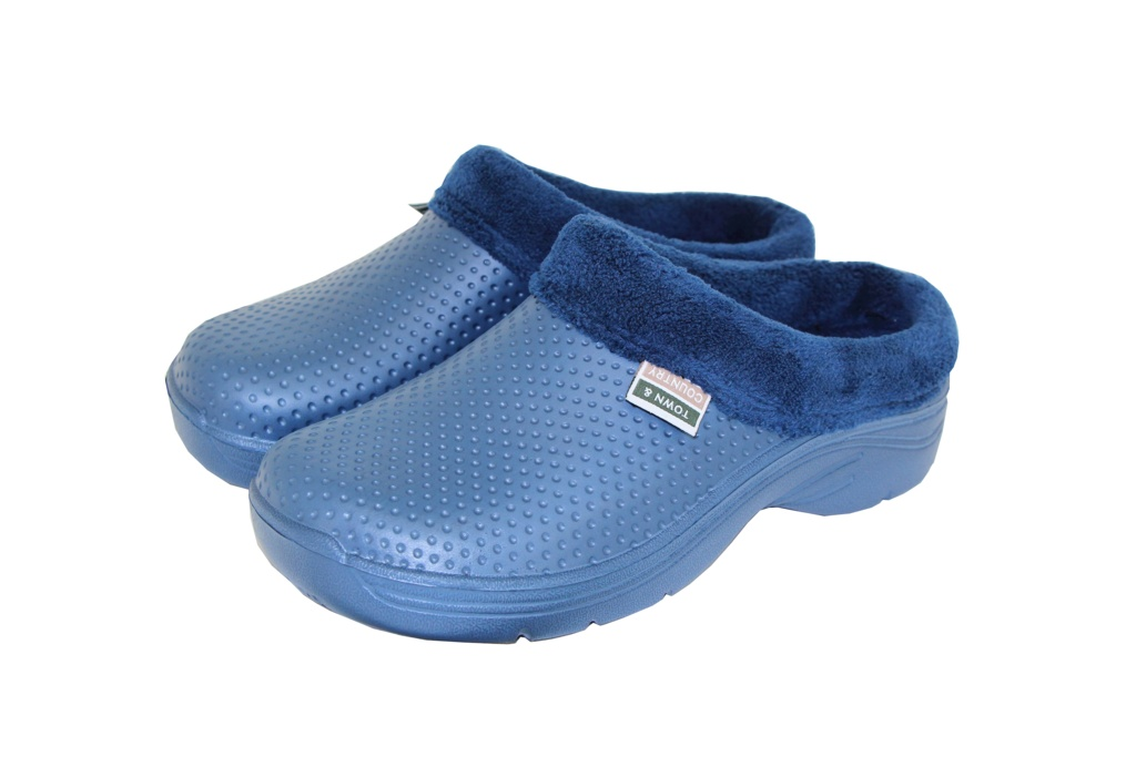 Town & Country Fleecy Cloggies Navy - Size 4