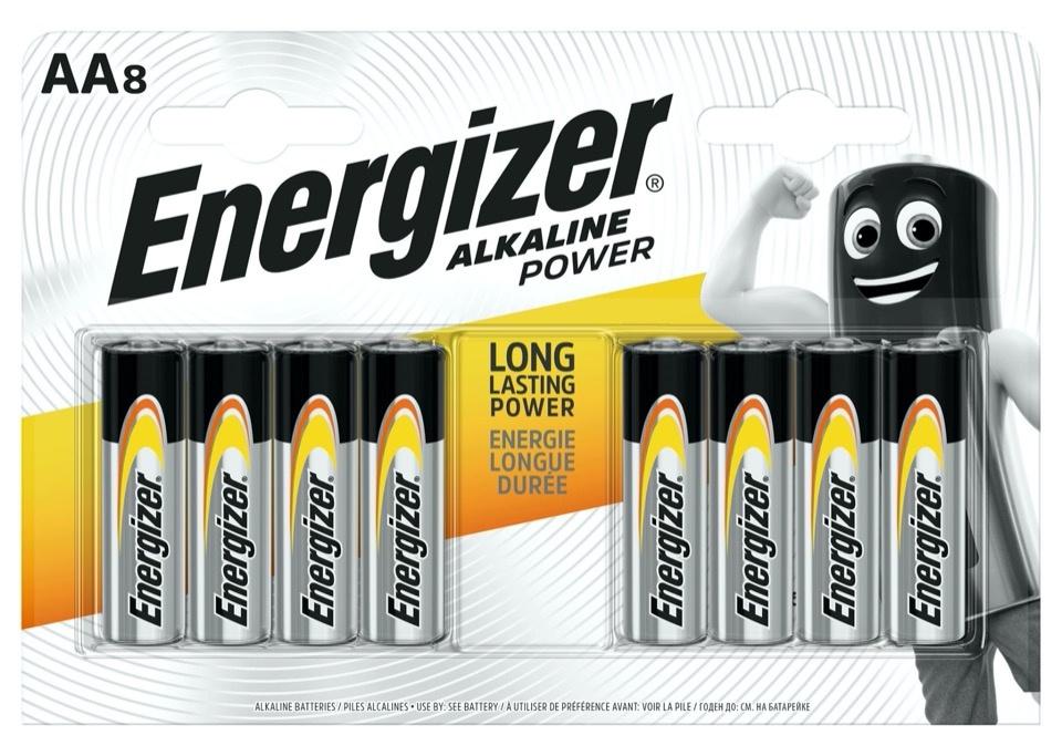 Energizer Alkaline Power Batteries - AA Pack 8