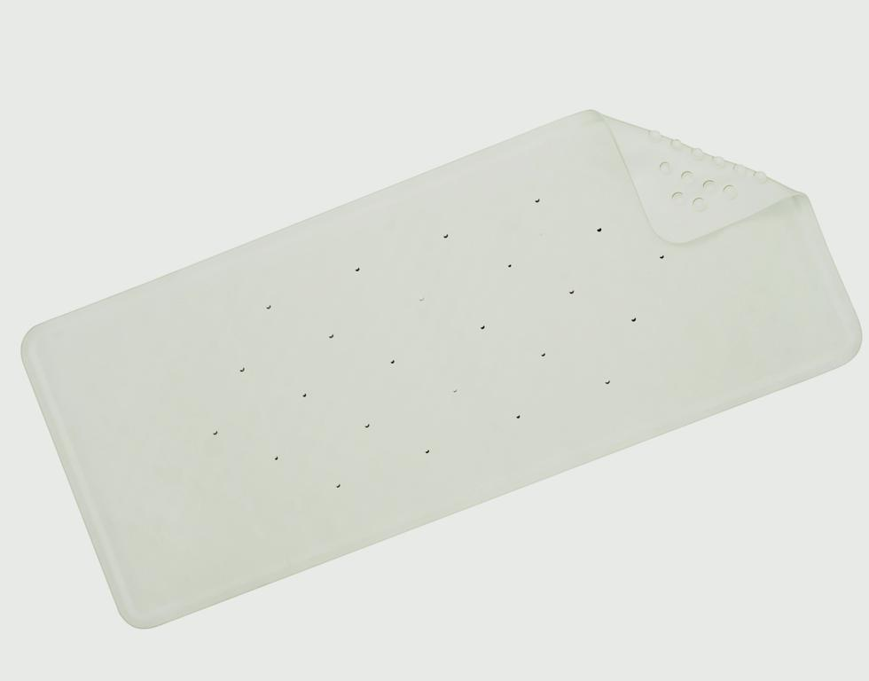 Croydex Basics Rubber Bath Mat - White 740mm x 340mm