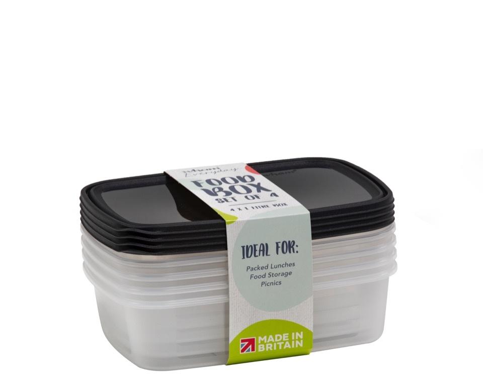 Wham Food Storage Box - 1L Set 4