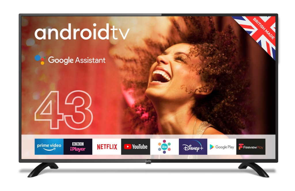 Cello HD LED Smart TV with Wi-Fi and Freeview T2 HD - 43""