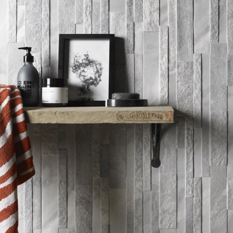 Verona Marmi Grey Matt Porcelain Wall Tile - 160 x 394mm