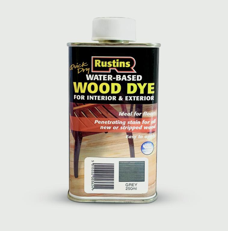 Rustins Quick Dry Wood Dye 250ml - Grey