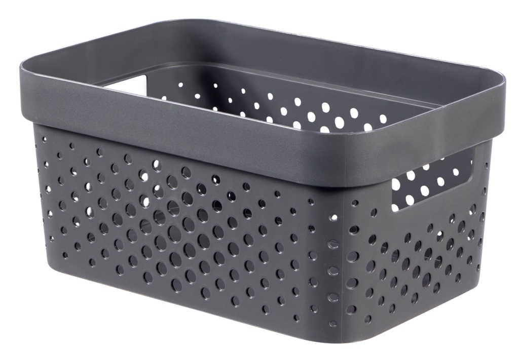 Curver Recycled Infinity Dots Box - 4.5L Dark Grey