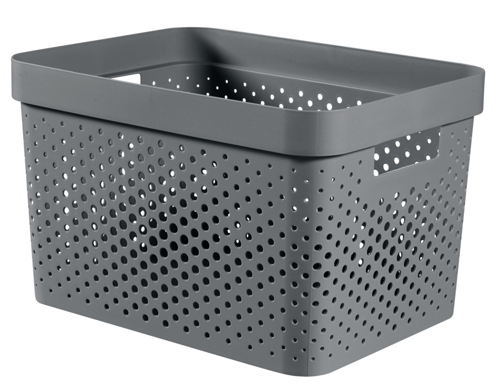 Curver Recycled Infinity Dots Box - 17L Dark Grey