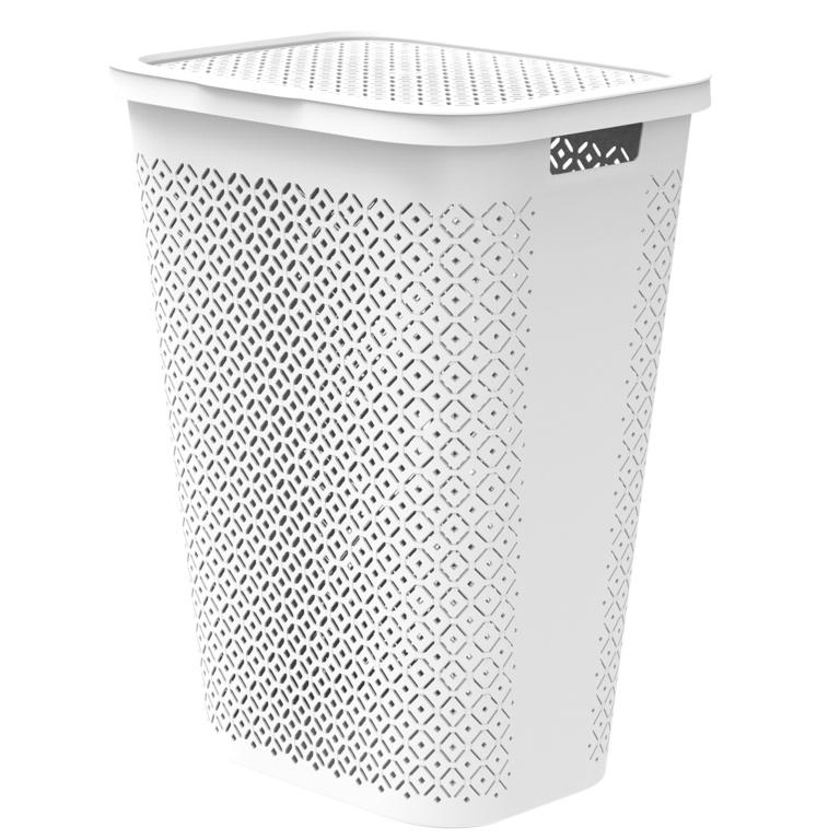 Curver Terrazzo Laundry Hamper - 55L White