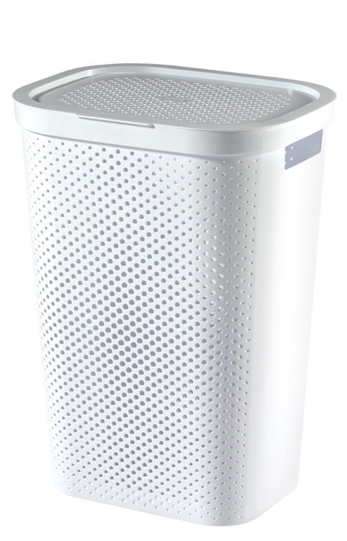 Curver Recycled Infinity Dots Laundry Hamper - 60L White
