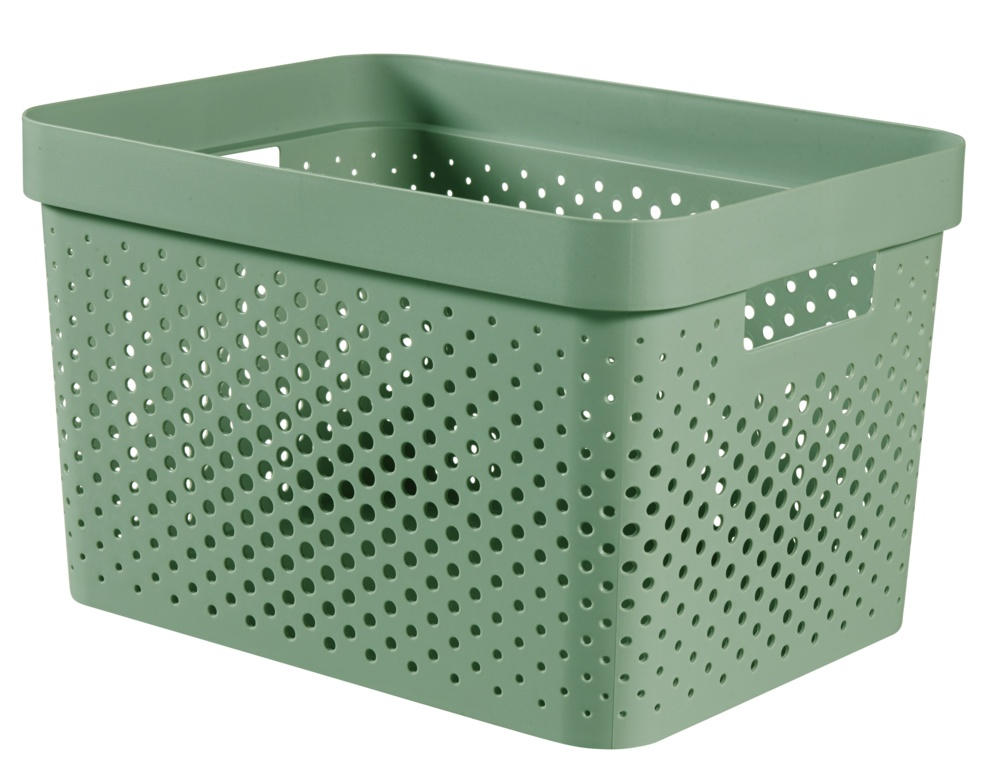 Curver Infinity Dots Box - 17L Shale Green