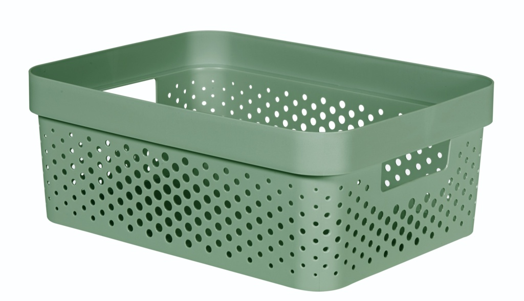 Curver Infinity Dots Box - 11L Shale Green