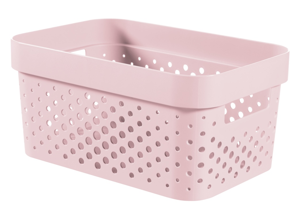 Curver Infinity Dots Box - 4.5L Chalk Pink