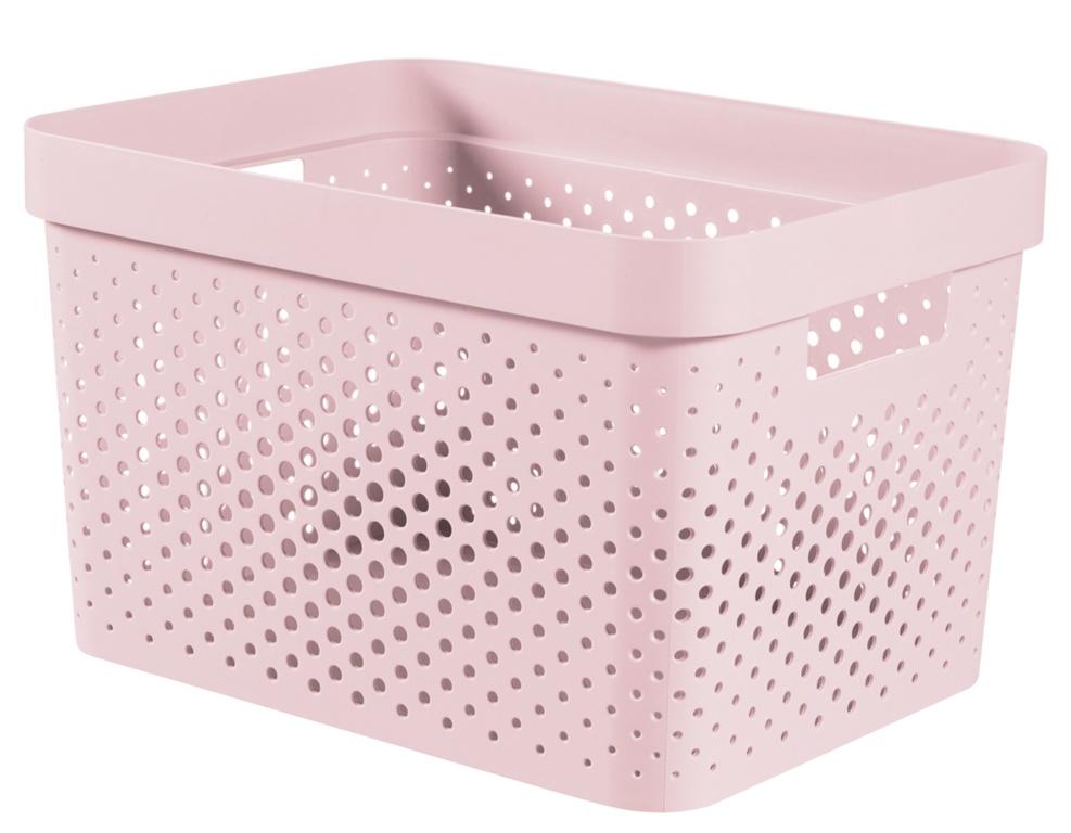 Curver Infinity Dots Box - 17L Chalk Pink