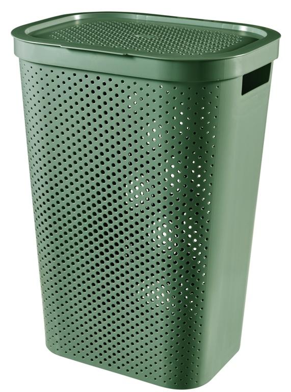 Curver Infinity Dots Laundry Hamper - 60L Shale Green