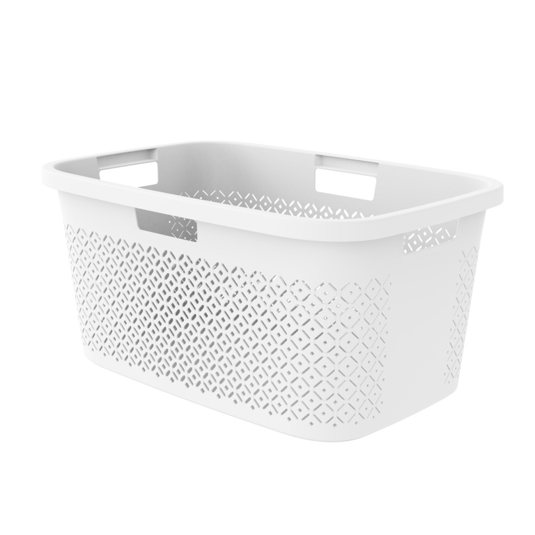 Curver Terazzo Laundry Basket - 47L White