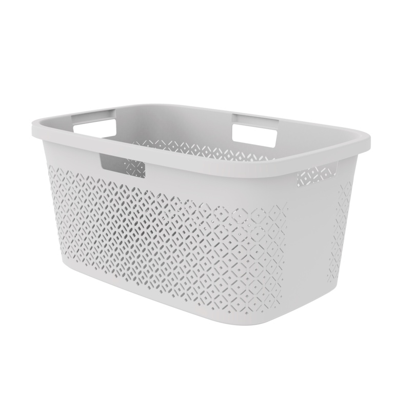 Curver Terazzo Laundry Basket - 47L Grey