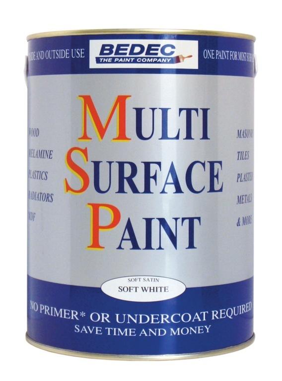 Bedec Multi Surface Paint Anthracite - 750ml Soft Satin