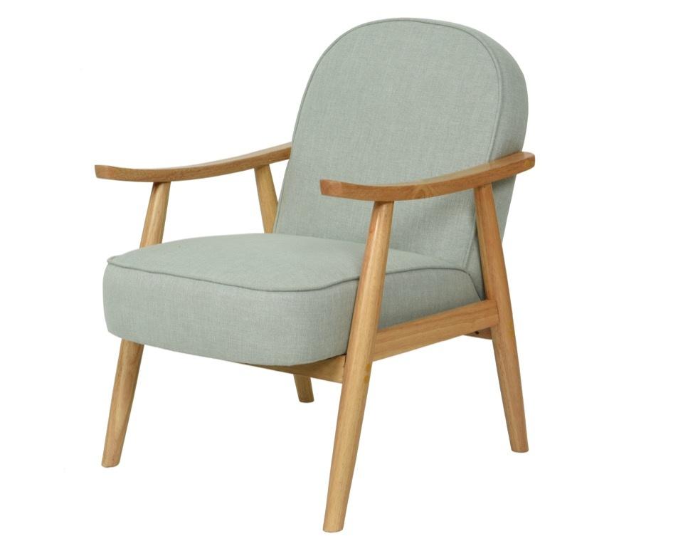 Kaemingk PES Linen Lounge Chair - Grey Green