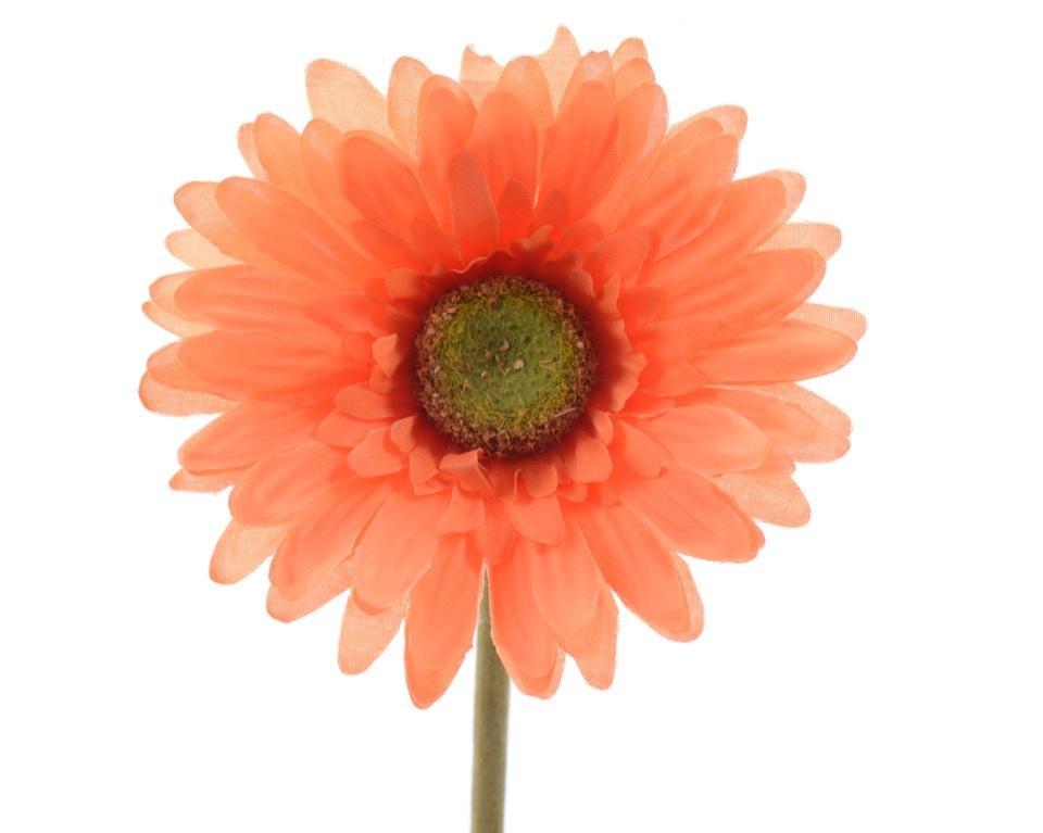 Kaemingk Silk Gerbera On Stem - 50cm Orange