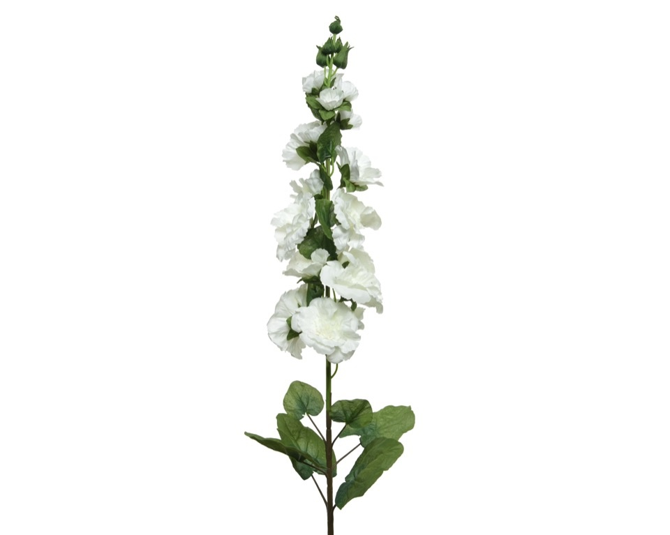 Kaemingk PES Hollyhock On Stem - 10 x 109 White