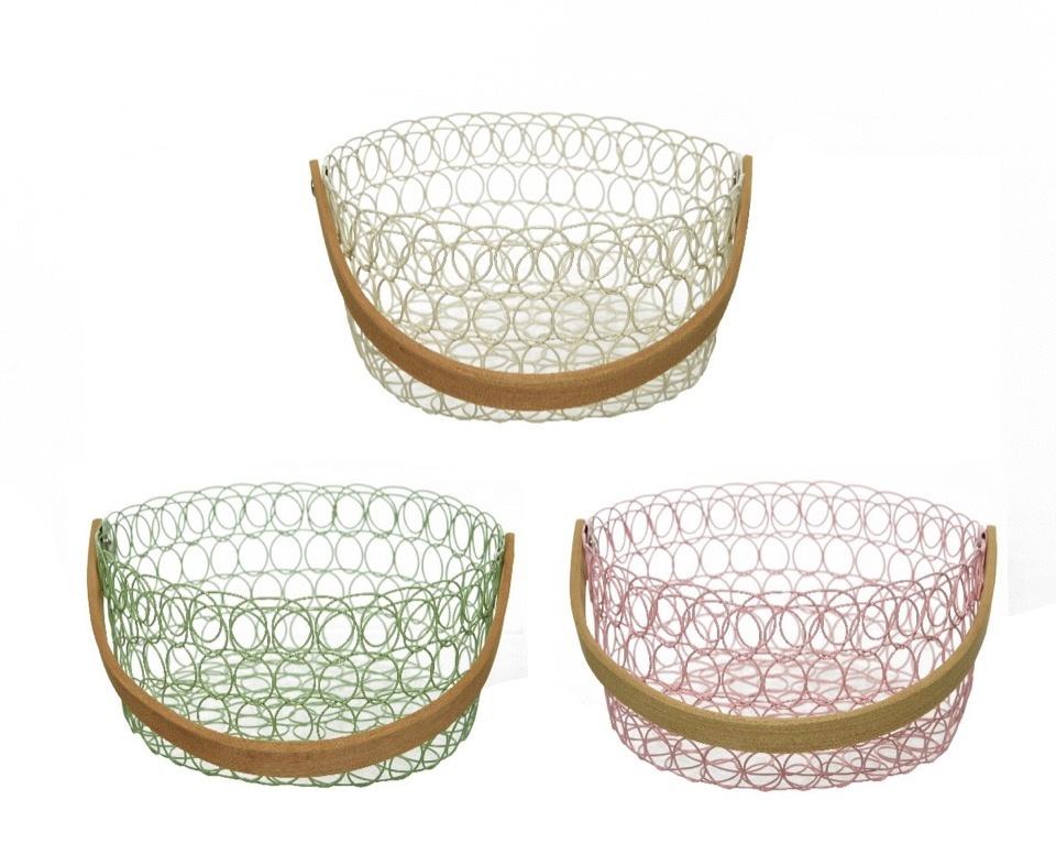 Kaemingk Iron Basket With Handle - Assorted
