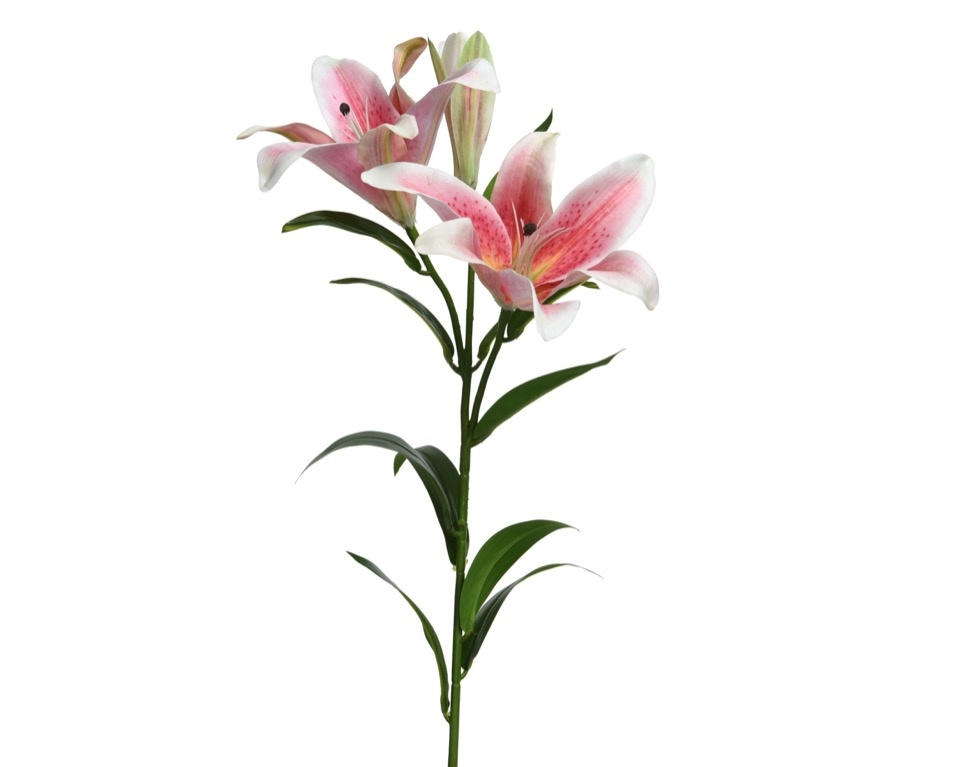 Kaemingk PES Real Touch Lily On Stem - Pink
