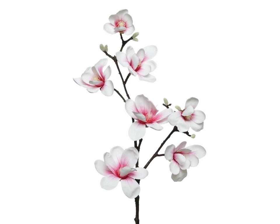 Kaemingk Magnolia Branch On Stem - Soft Pink