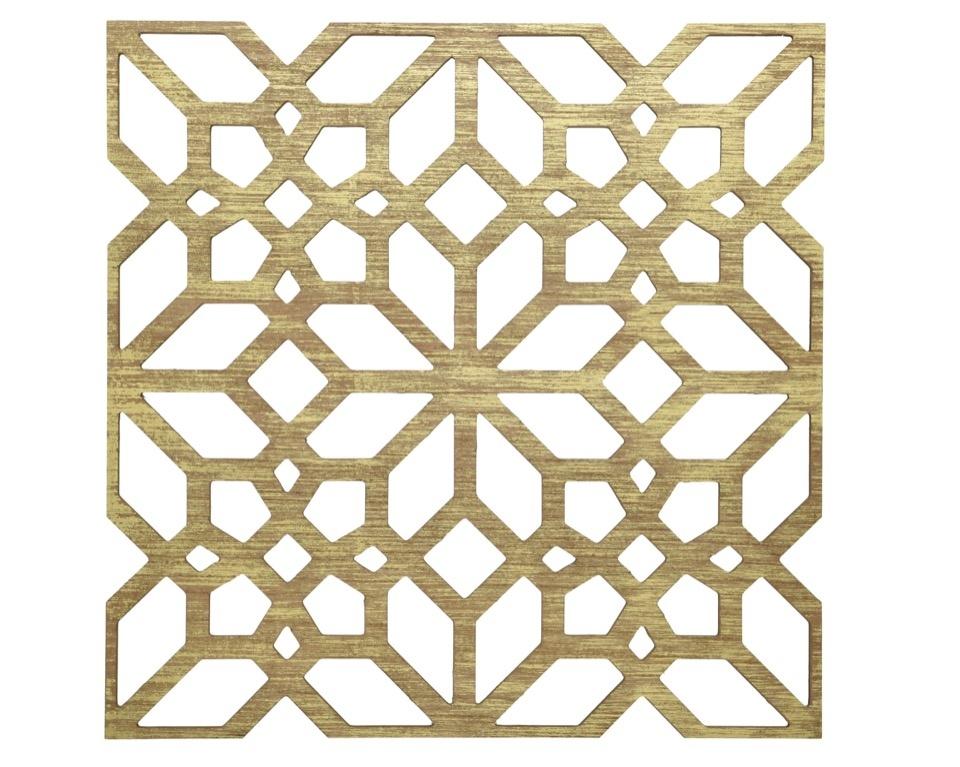 Kaemingk MDF Wall Deco Panel Cut Out Gold