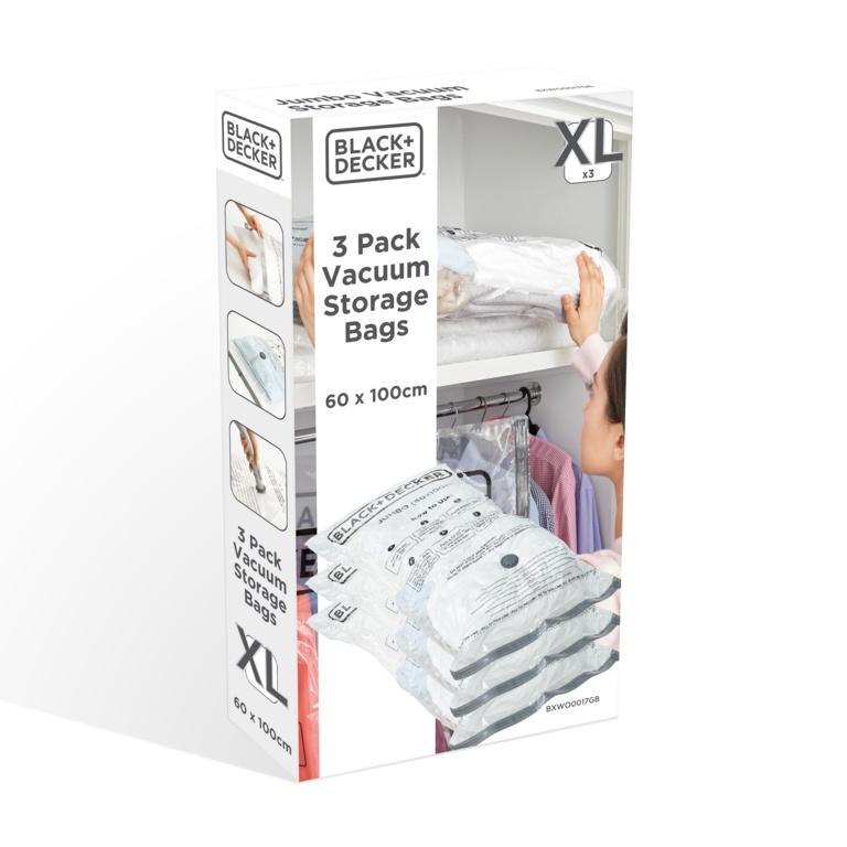 Black & Decker Vacuum Storage Bags - Jumbo 3 Pack