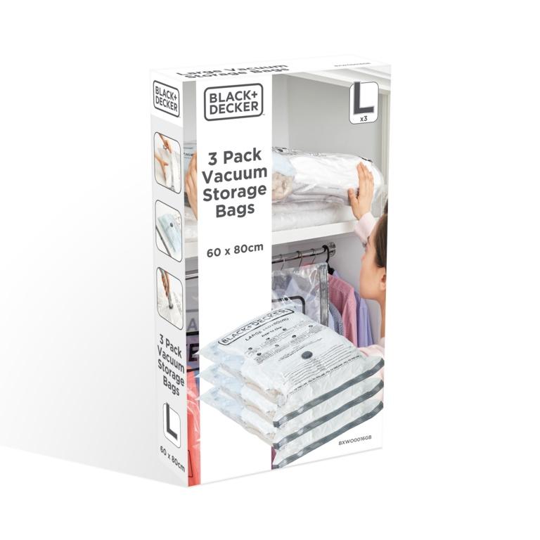 Black & Decker Vacuum Storage Bags - Large 3 Pack