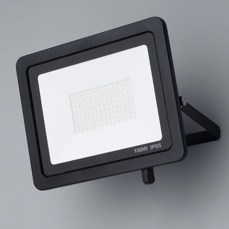 One Electrical Economical Slim LED IP66 Floodlight - 100W, 10,000lm