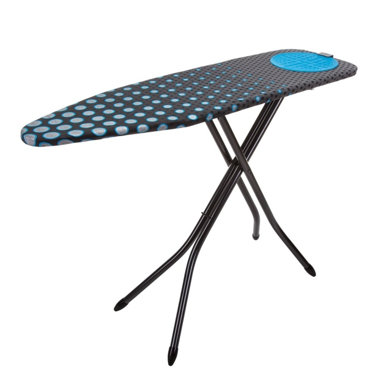 Minky Hotspot Blue Ironing Board With Cover - 122 x 38cm