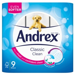 Andrex Toilet Roll Classic Clean White