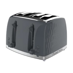 Russell Hobbs Honeycomb Textured Toaster - Black 4 Slice