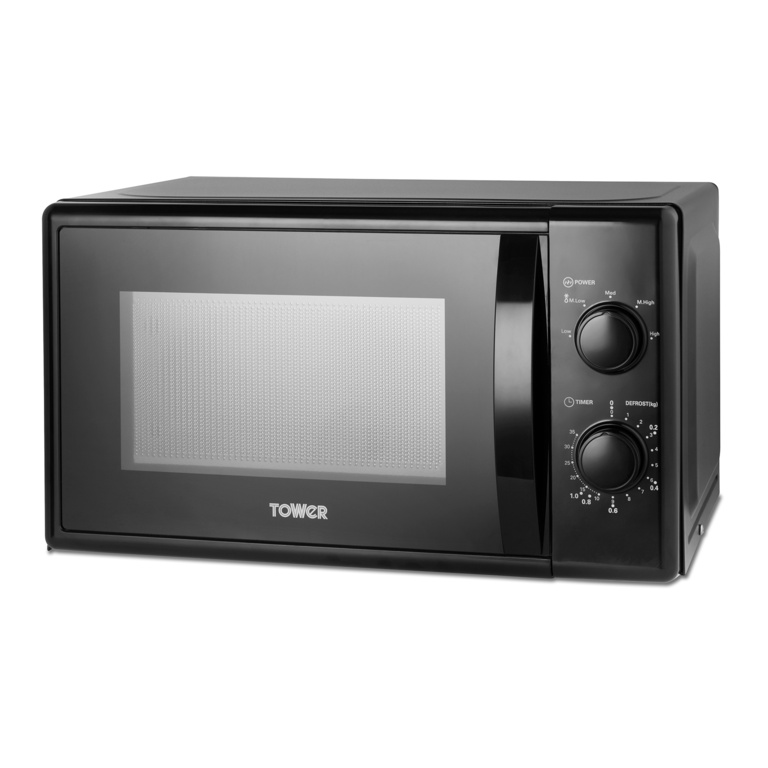 Tower 20L Manual Microwave - 700w Black