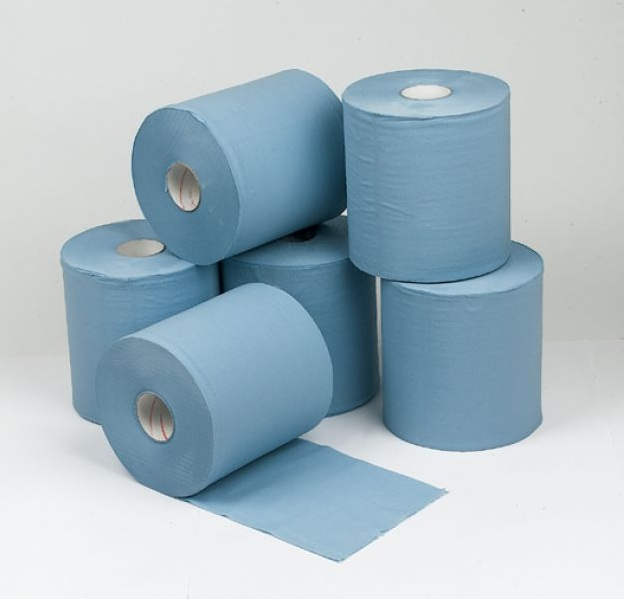 Concept 2 Ply Blue Centre Feed Rolls - 150m x18.5cm Pack 6