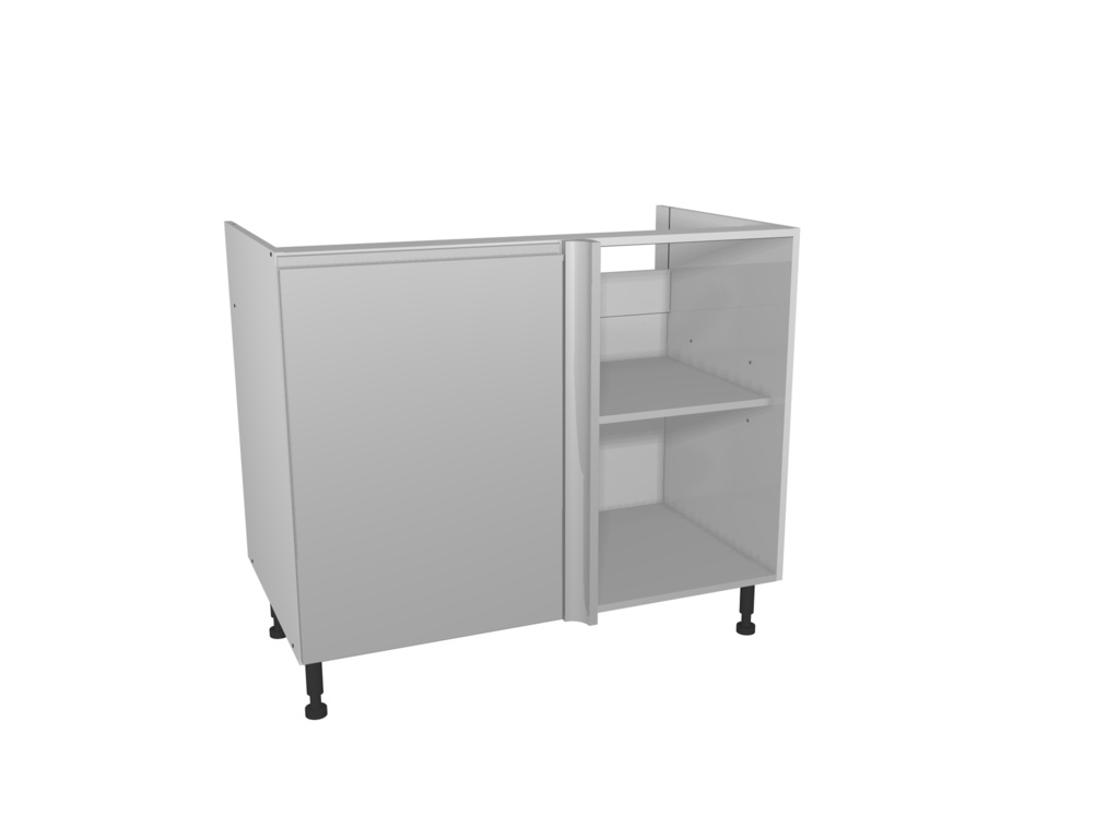 Gower Rapide+ Corner Base Unit 1000mm - Capri Grey