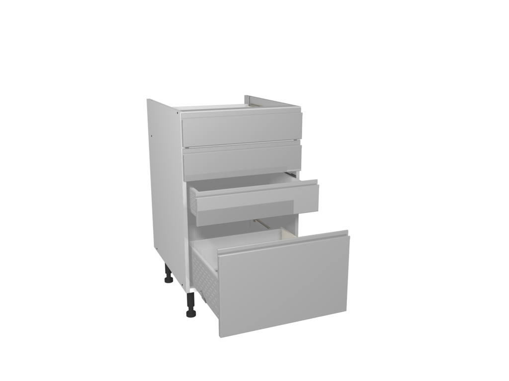 Gower Rapide+ 4 Drawer Unit 500mm - Capri Grey