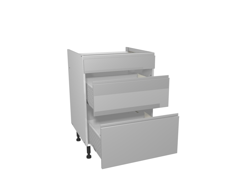 Gower Rapide+ 3 Drawer Unit 600mm - Capri Grey