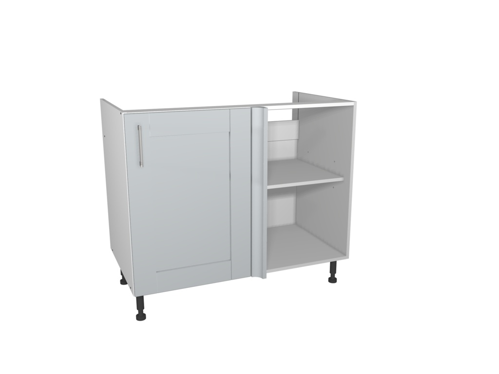 Gower Rapide+ Corner Base Unit 1000mm - Verona Grey