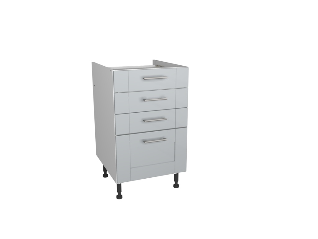 Gower Rapide+ 4 Drawer Unit 500mm - Verona Grey