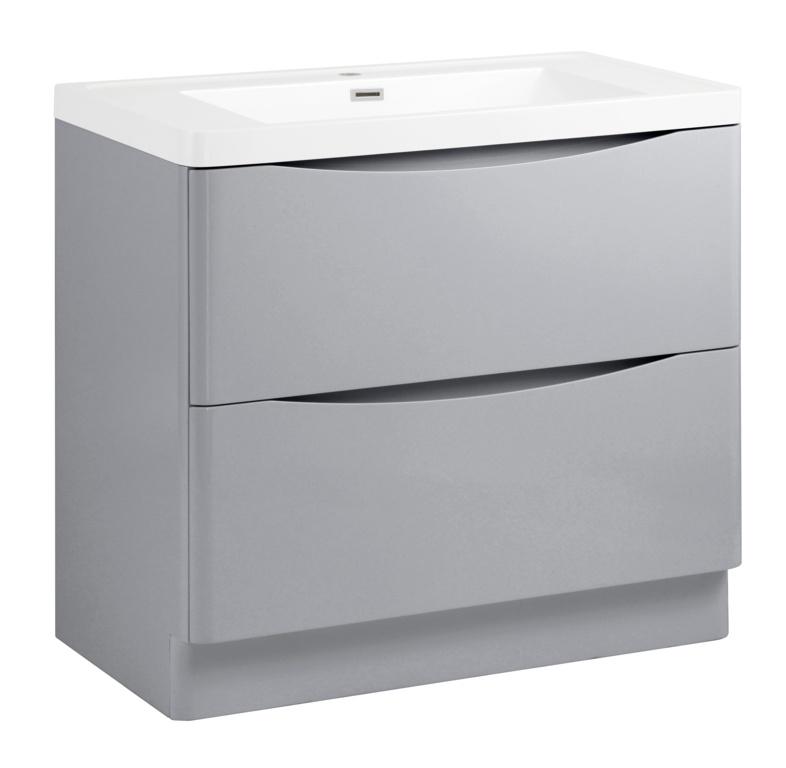SP Ocata Grey Floor Standing Vanity Unit - 900mm