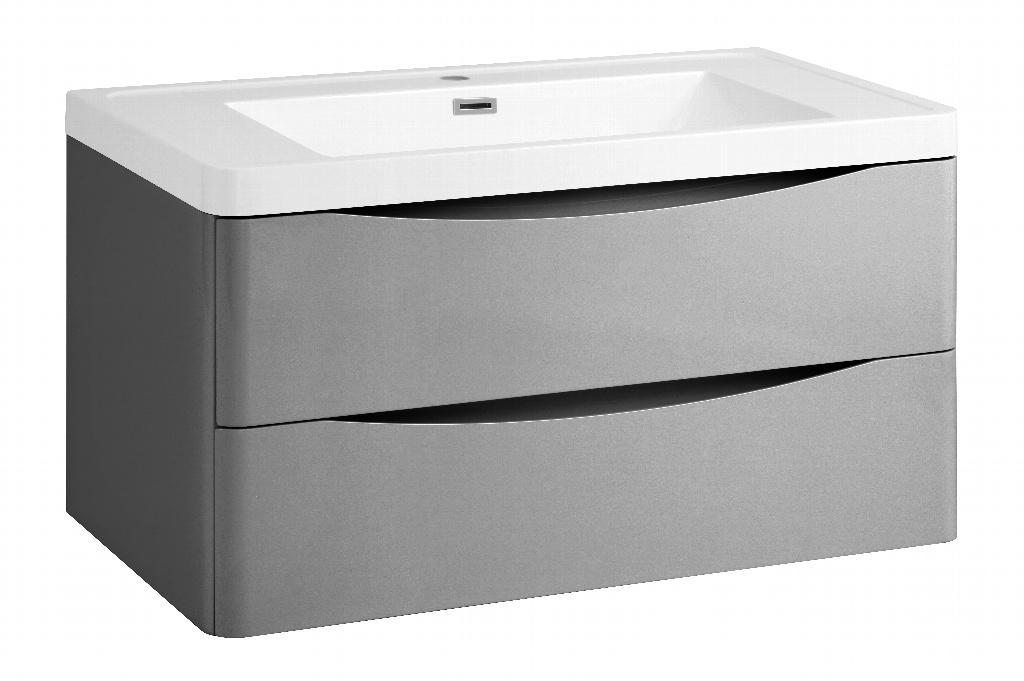 SP Ocata Grey Wall Hung Vanity Unit - W: 900mm x H: 500mm x D: 480mm